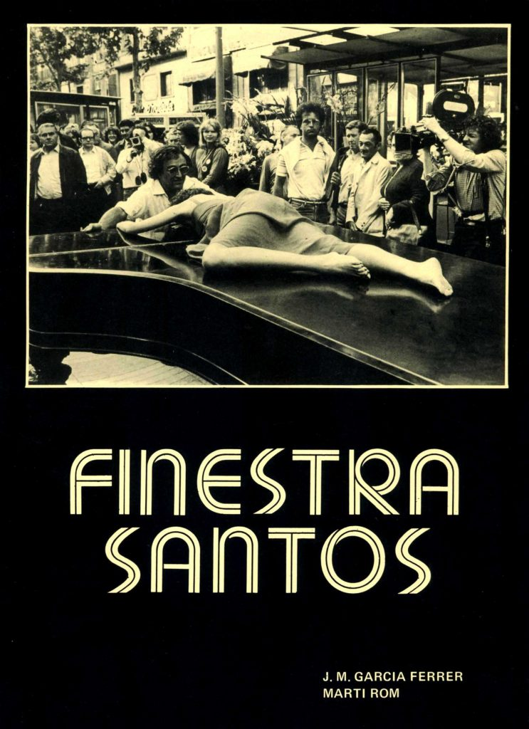 """Finestra Santos (Carles Santos)"" amb J.M. García Ferrer (Cine club Associació d'Enginyers, 1982)"
